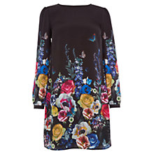 Buy Oasis Floral and Fauna Shift Dress, Multi/Black Online at johnlewis.com