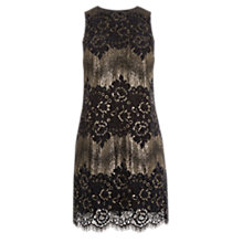Buy Oasis Metallic Lace Skater Dress, Multi Online at johnlewis.com