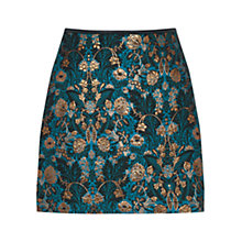 Buy Oasis Warner Jacquard Skirt, Multi/Blue Online at johnlewis.com
