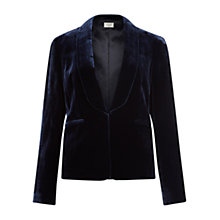 Buy Hobbs Benita Jacket, Navy Online at johnlewis.com