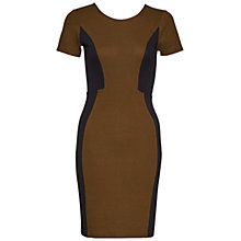 Buy French Connection Manhattan Colourblock Dress, Turtle/Black Online at johnlewis.com