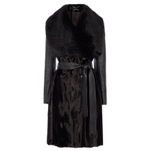 Buy Karen Millen Signature Investment Coat, Black Online at johnlewis.com