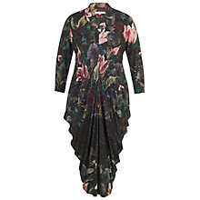Buy Chesca Floral Border Print Jersey Dress, Black/Multi Online at johnlewis.com