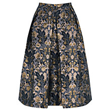 Buy Oasis Warner Jacquard Midi Skirt, Black Online at johnlewis.com