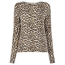 Buy Oasis Animal Print Cinnamon Jumper, Multi Online at johnlewis.com