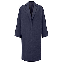 Buy Kin by John Lewis Textured Cocoon Coat, Navy Online at johnlewis.com