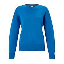 Buy Kin by John Lewis Compact Cotton Jumper, Cobalt Online at johnlewis.com