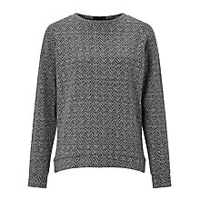 Buy Kin by John Lewis Herringbone Sweatshirt, Grey Online at johnlewis.com