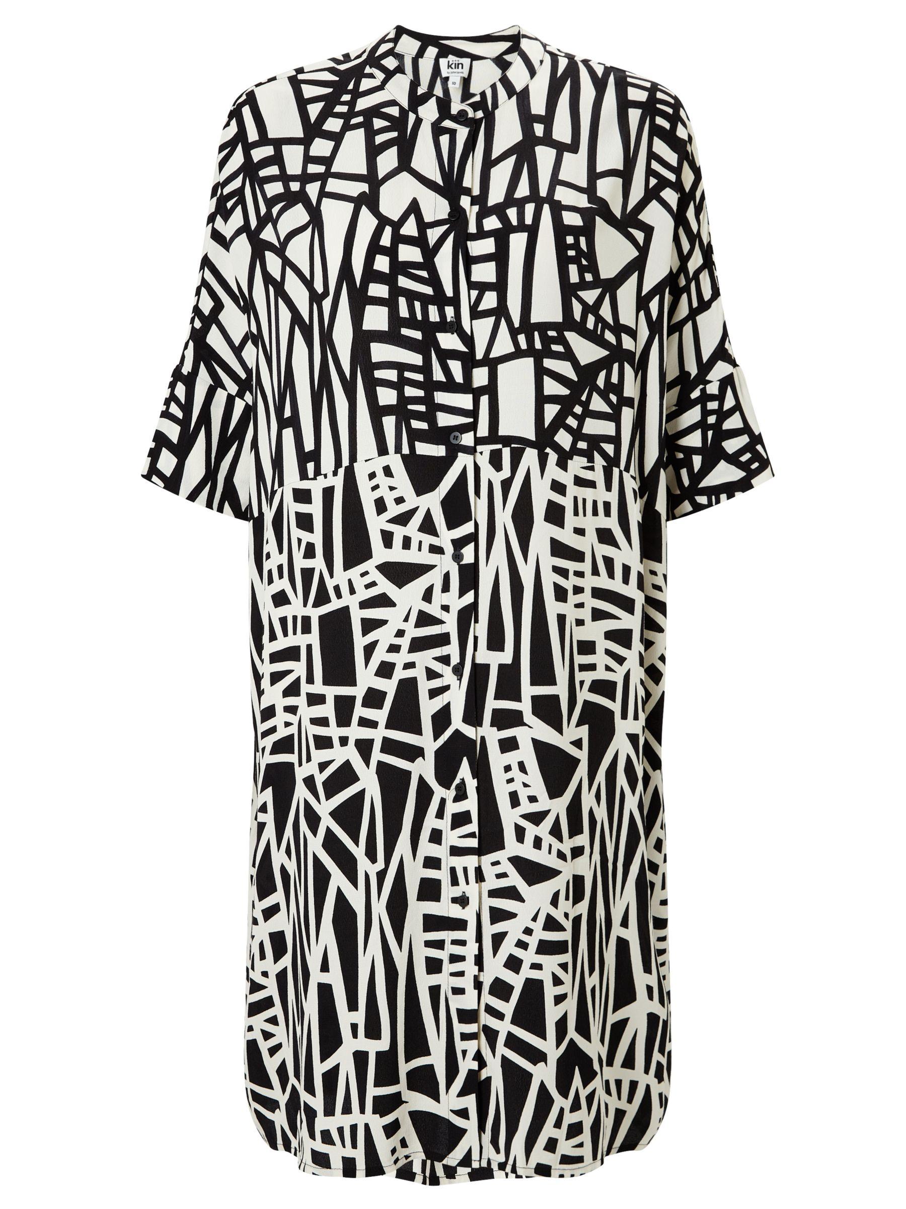 Kin by John Lewis Kin by John Lewis Assemble Print Dress, Black/White