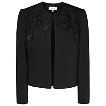 Buy Reiss Arie Lace Evening Cover Up, Black Online at johnlewis.com