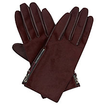 Buy Hobbs Nadine Gloves, Bordeaux Online at johnlewis.com