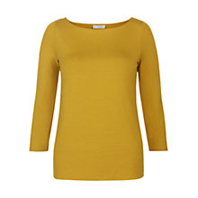 Buy Hobbs Sonya Top, Ochre Online at johnlewis.com