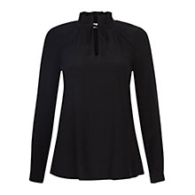 Buy Hobbs Kathryn Top, Black Online at johnlewis.com