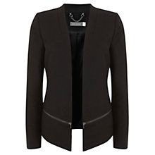 Buy Mint Velvet Funnel Tuxedo Jacket, Black Online at johnlewis.com