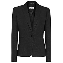 Buy Reiss Simona Metallic Tailored Jacket, Black Online at johnlewis.com