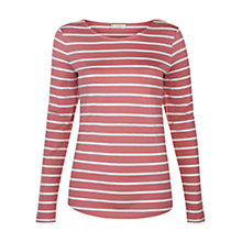Buy Hobbs Evelyn Top, Salmon/Ivory Online at johnlewis.com