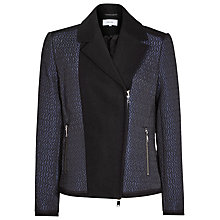 Buy Reiss Seren Quilted Zip Front Jacket, Night Navy/Black Online at johnlewis.com