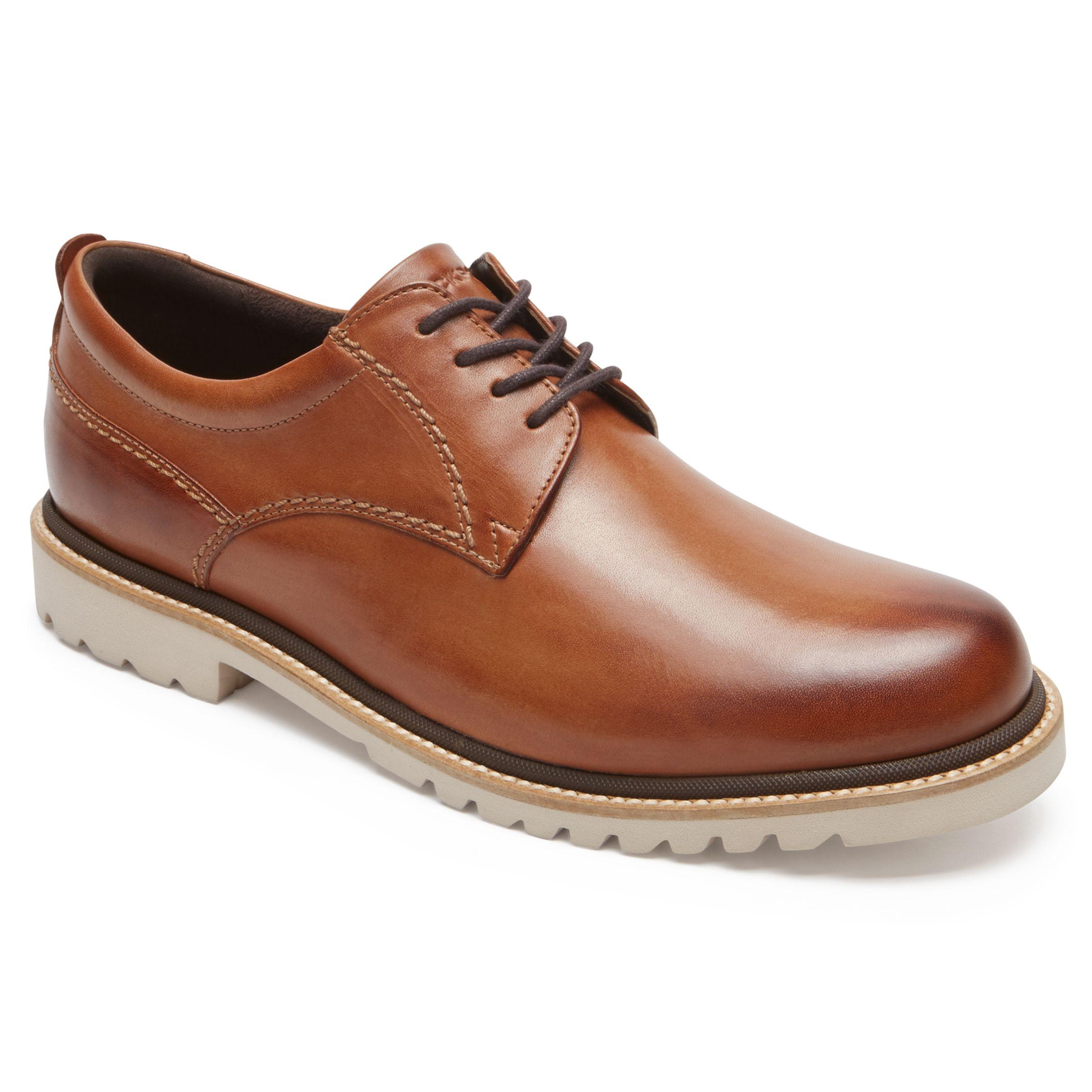 Rockport Rockport Marshal Plain Toe Derby Shoes, Cognac