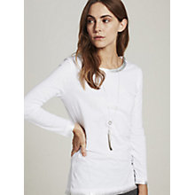 Buy Hygge by Mint Velvet Foil Trim Long Sleeve T-Shirt, Ivory Online at johnlewis.com