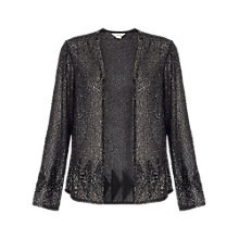Buy Miss Selfridge Beaded Jacket, Black Online at johnlewis.com
