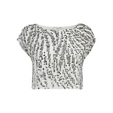 Buy Coast Batilda Embellished Top, Black Online at johnlewis.com