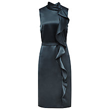 Buy Reiss Lola Ruffle Front Dress, Deep Ocean Online at johnlewis.com