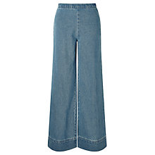Buy Waven Nella Wide Leg Trousers, Old Used Blue Online at johnlewis.com