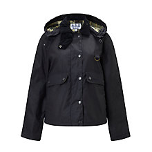 Buy Barbour Heritage Summer Spey Waxed Jacket, Navy Online at johnlewis.com