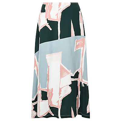Waven Lilli Printed Skirt, Broken Line Print