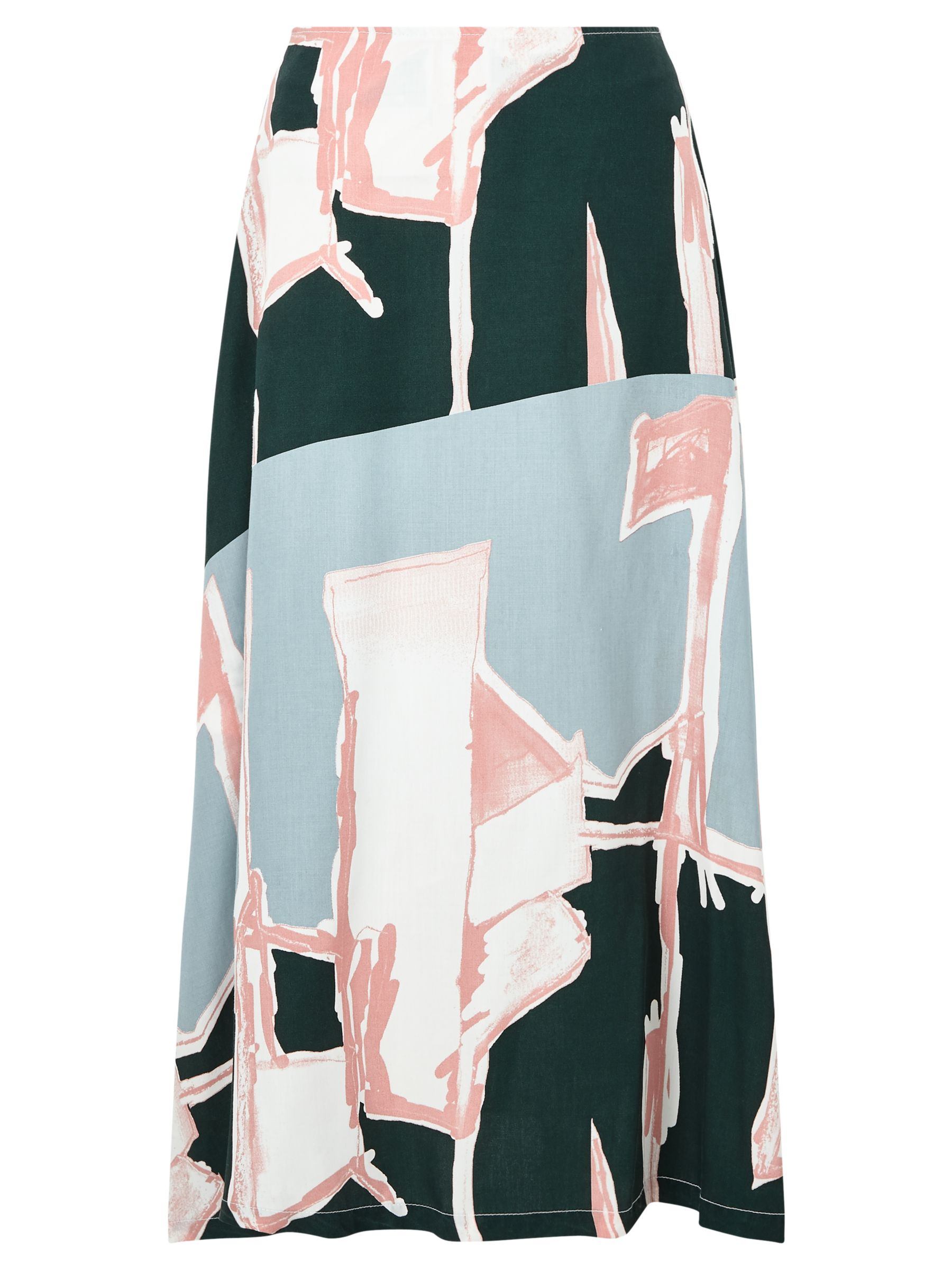 Waven Waven Lilli Printed Skirt, Broken Line Print