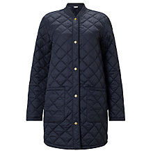 Buy Barbour Heritage Summer Border Quilted Jacket, Navy Online at johnlewis.com
