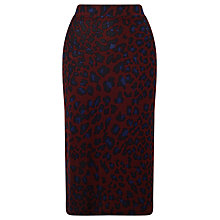 Buy Baum und Pferdgarten Jacy Leopard Print Skirt, Vineyard Online at johnlewis.com