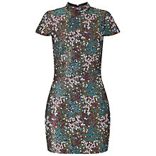 Buy Miss Selfridge High Neck Jacquard Dress, Multi Online at johnlewis.com