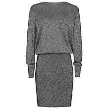 Buy Reiss Blossom Metallic Dress, Black Online at johnlewis.com