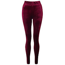 Buy Miss Selfridge High Waisted Velvet Leggings Online at johnlewis.com