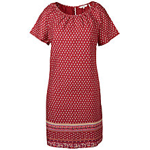 Buy Fat Face Annie Gypset Foulard Dress, Flame Online at johnlewis.com