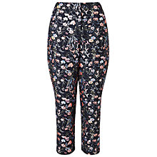 Buy Miss Selfridge Folk Flora Jacquard Trousers, Navy Online at johnlewis.com