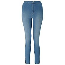 Buy Miss Selfridge Steffi Zip Hem Jeans, Mid Wash Denim Online at johnlewis.com