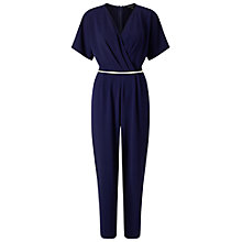Buy Miss Selfridge Kimono Jumpsuit, Navy Online at johnlewis.com