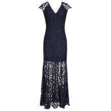 Buy Reiss Haelo Lace Maxi Dress, Night Navy Online at johnlewis.com