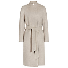 Buy Reiss Elias Collarless Coat, Oatmeal Online at johnlewis.com