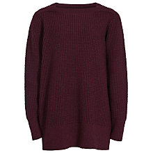 Buy Reiss Palmira Chunky Knit Jumper, Berry Online at johnlewis.com