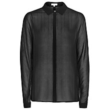 Buy Reiss Gemini Sheer Stripe Shirt, Black Online at johnlewis.com