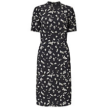 Buy Miss Selfridge High Neck Midi Dress, Black Online at johnlewis.com