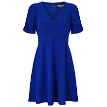 Buy Miss Selfridge Bow Sleeve Dress, Cobalt Online at johnlewis.com
