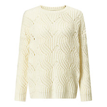 Buy Miss Selfridge Wavy Stitch Jumper, Cream Online at johnlewis.com