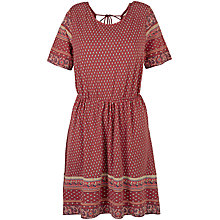 Buy Fat Face Sara Embroidered Dress, Flame Online at johnlewis.com