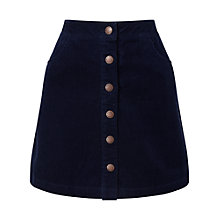 Buy Miss Selfridge Cord A-Line Mini Skirt, Navy Online at johnlewis.com