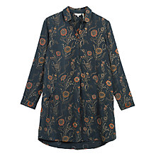 Buy Fat Face Poppies Shirt Dress, Phantom Online at johnlewis.com