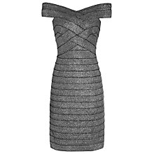 Buy Reiss Hartley Panelled Bodycon Dress, Metallic Silver Online at johnlewis.com